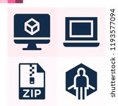 contains such icons as virtual... | Shutterstock .eps vector #1193577094