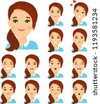 collection of various emotion... | Shutterstock .eps vector #1193581234