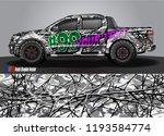 truck wrap design vector.... | Shutterstock .eps vector #1193584774