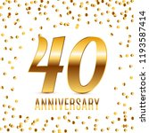 celebrating 40 anniversary... | Shutterstock .eps vector #1193587414
