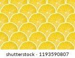 juicy yellow slice of lemon...   Shutterstock . vector #1193590807
