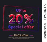 up to 20 percent sale... | Shutterstock .eps vector #1193602177