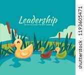 leading plastic duck | Shutterstock .eps vector #1193605471