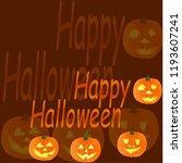 illustration of happy halloween ... | Shutterstock .eps vector #1193607241