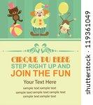 Fun Circus Card. Vector...