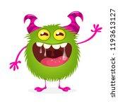 happy cartoon monster. vector...   Shutterstock .eps vector #1193613127