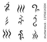 steam or smoke icons.... | Shutterstock .eps vector #1193614204