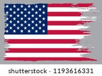 grunge american flag.vector old ... | Shutterstock .eps vector #1193616331