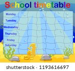 school timetable with marine... | Shutterstock .eps vector #1193616697