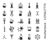 chemistry equipment icons set.... | Shutterstock .eps vector #1193617774
