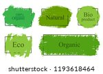 organic labels in grunge style. | Shutterstock .eps vector #1193618464