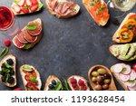 brushetta or traditional...   Shutterstock . vector #1193628454