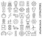 energy saving icon set. outline ... | Shutterstock .eps vector #1193629081