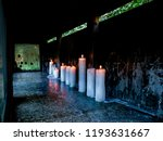 ghost or curse candles that... | Shutterstock . vector #1193631667
