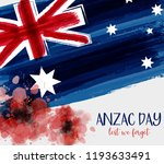 anzac day background with... | Shutterstock .eps vector #1193633491