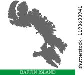 High quality map of Baffin Island is the island of Canada