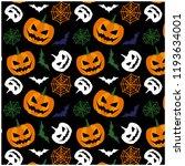 happy halloween october  | Shutterstock .eps vector #1193634001