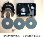 disassembled hard drive.... | Shutterstock . vector #1193641111