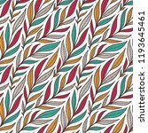 hand drawn pattern with... | Shutterstock . vector #1193645461