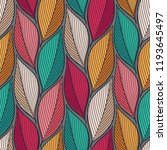 stylized colorful leaves... | Shutterstock . vector #1193645497