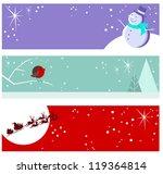 christmas banners | Shutterstock .eps vector #119364814