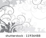 black and white nature vector... | Shutterstock .eps vector #11936488