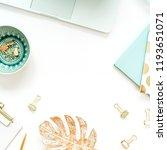 workspace frame on white... | Shutterstock . vector #1193651071
