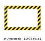 warning striped frame  warning... | Shutterstock .eps vector #1193654161