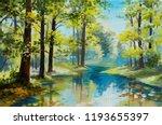 Oil Painting Landscape   River...