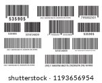 realistic bar code icon. a... | Shutterstock .eps vector #1193656954