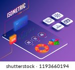 isometric vector. set of... | Shutterstock .eps vector #1193660194