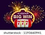 big win glowing banner for...   Shutterstock .eps vector #1193660941