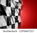 checkered black and white flag... | Shutterstock . vector #1193667217