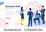 flat design  web page template... | Shutterstock .eps vector #1193669104