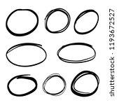 doodle set of black hand drawn...   Shutterstock .eps vector #1193672527