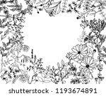 herbs and wild floweres. set of ... | Shutterstock .eps vector #1193674891