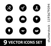 cutout icon. collection of 9... | Shutterstock .eps vector #1193679394