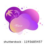 tropical banner with palm trees.... | Shutterstock .eps vector #1193685457