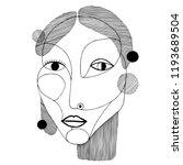 woman portrait in modern... | Shutterstock .eps vector #1193689504