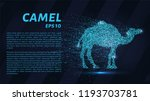 a camel made of particles on a... | Shutterstock .eps vector #1193703781