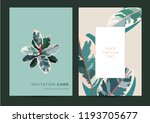 invitation card in the... | Shutterstock .eps vector #1193705677