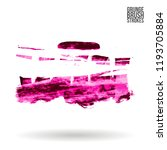 pink brush stroke and texture.... | Shutterstock .eps vector #1193705884
