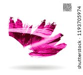 pink brush stroke and texture.... | Shutterstock .eps vector #1193705974