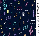 music notes pattern. music... | Shutterstock .eps vector #1193716597