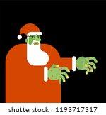 santa claus zombie. christmas... | Shutterstock .eps vector #1193717317