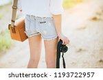 portrait of smiling girl... | Shutterstock . vector #1193722957