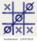 tic tac toe. doodle style | Shutterstock .eps vector #119372425