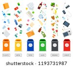 recycling garbage separation... | Shutterstock .eps vector #1193731987
