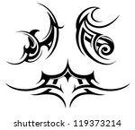 tribal tattoo set | Shutterstock .eps vector #119373214