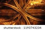 aerial drone night high speed... | Shutterstock . vector #1193743234
